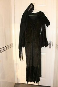 Ex Hire Medium Morticia Addams Family Outfit Fancy Dress Costume