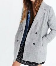 NEW Madewell $238 herringbone blazer coat SizeL G9145 In Gray