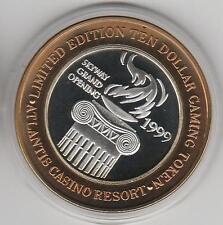 2000 Atlantis Millennium Skyway Opening CU .999 Fine Silver $10 Casino Token