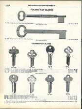 1918 ADVERTISEMENT Folding Skeleton Key Keys 2 Full Size Image