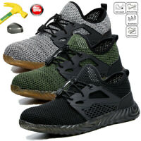 Mens Safety Work Shoes Steel Toe Boots Indestructible Bulletproof Mesh Sneakers