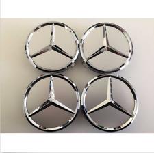 75mm Center Hubcap Hub Cap Caps Wheel Cover for Mercedes Benz 4x Silver