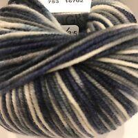 Lana Grossa Cool Wool Print Yarn Trim Scarf Sweater Wrap Knit Crochet