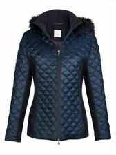 Jacke Wolle Winter Damen Trench Warm Winterjack blau Fell Größe 40 Steppjacke