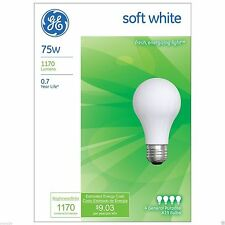 ~48 Pack~ 75 Watt GE Soft White Incandescent Light Bulbs - Household *41032*