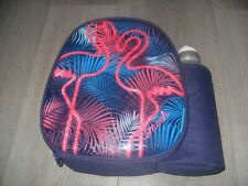 Smash Flamingo School Lunch Bag & Bottle (Blue iQ Lining) - NEW