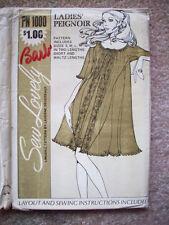 Unused Vintage 1970's Peignoir nightie pattern 1000 size S M L