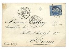 EE18 1862 France Cancel Paris Le Havre TPO Cover {samwells-covers}PTS