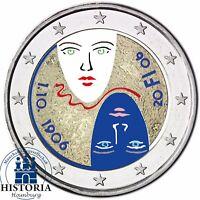 Finnland 2 Euro Münze Gleichberechtigtes Wahlrecht 2006 Stempelglanz in Farbe