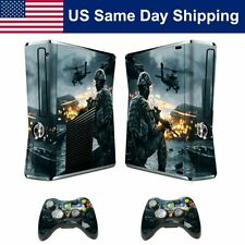 Custom Mod Skin Sticker Decal for Xbox360 Slim Console & Controller Set Protect