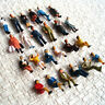 48 x HO scale Model People Painted Figure with half Seated Passenger scenery