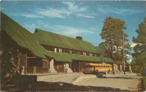 Bryce Canyon Lodge National Park Utah 1950s Postcard bus roadside 689
