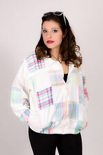 MULTI COLOURED PATCHWORK PLAID TARTAN JACKET BY PATCHIT summer festival