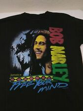 Bob Marley Size Large Free Your Mind T Shirt Music Concert Tee Reggae
