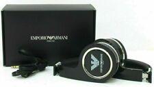 EMPORIO ARMANI DESIGNER BLACK HEADPHONE. GIFT BOXED. NEW