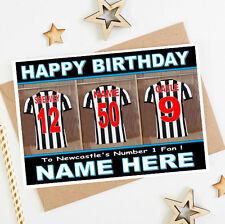 NEWCASTLE FOOTBALL FAN (2) Personalised Birthday Card! any NAME/NUMBER/RELATION!