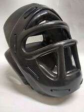 Headguard w/ Face Cage Headgear Guard Sparring Shield - Black