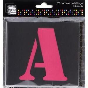 Pochoir lettre majuscule - Alphabet 9 cm - 26 pcs