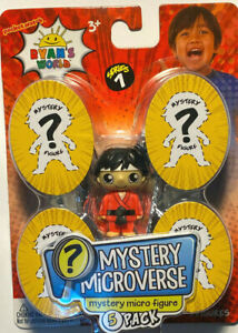 NEW Ryan's World MYSTERY MICROVERSE mystery micro figure 5 pack- series 1