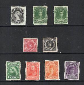 Canada (Newfoundland+ NS) 57-8,80,82-4 Mint FVFLHH. CV $187 (2021), see desc.