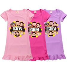 New Gurkey FGTeeV Youtuber Girls Dress Gamer Pyjamas T-shirt Tops Loungewear
