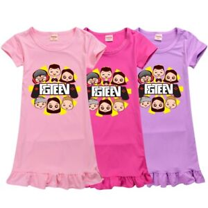 New Gurkey FGTeeV Youtuber Girls Dress Gamer Pyjamas T-shirt Tops Loungewear