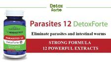 PARASITES 12 STRONG DETOX Parasite cleanse intestinal worm VEGAN 120 capsules
