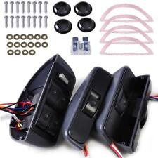 Universal Car Grey 12V 4 Doors Electric Power Window Lock Kit 4 Rocker Switch
