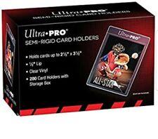 New (100) Ultra-Pro SEMI RIGID Card Holders Flexible Sleeves Savers