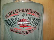 Harley-Davidson camisa manga larga Camiseta hombre talla m free machines b&s Wings sale