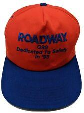 ROADWAY EXPRESS vintage G99 Safety orange / blue adjustable cap / hat K-Products