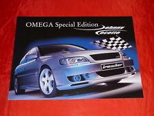 """OPEL IRMSCHER Omega B """"SPECIAL EDITION Johnny Cecotto"""" prospetto di 2001"""