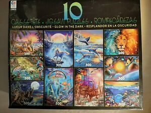 CEACO 10 PUZZLES Glow Tiger Lion Unicorn Wolf Dolphin Sea Ship Planets