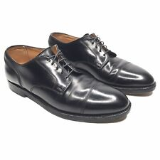 Brooks Brothers New York Black Shell Cordovan Cap Toe Oxford Shoes 8.5