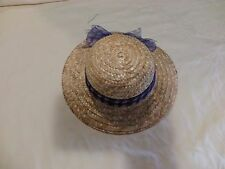 """American Girl 18"""" Doll Straw Hat For Periwinkle Dress Retired"""