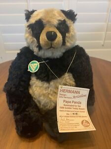 Hermann Teddy Bear Pappa Panda 12 Inch Limited