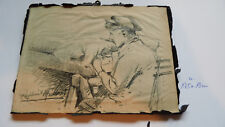 Bleistiftzeichnung Raphael Mordant 1898 bis 1991 Frankreich Original