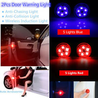2pcs Universal Car Door LED Opening Warning Lamp Safely Flash Signal Light UK