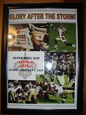 More details for new orleans saints 31 indianapolis colts 17 - 2010 super bowl - framed print