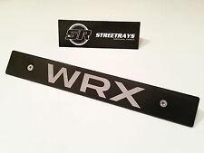 [SR] Black Front License Plate Delete For [2015 WRX] Fill Laser Engraved Logo
