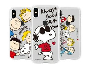 Official Peanuts Snoopy Clear Jelly Phone Case Cover For Samsung Galaxy S10 9 8