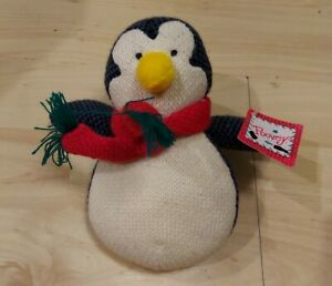 """Poovey Penguin Stuffed Animal By Russ Berrie 7"""" NWT"""