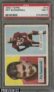 1957 Topps Football #14 Pat Summerall Chicago Cardinals PSA 7 NM