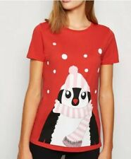 New Look - Red Penguin Xmas Top - Size 8 - BNWT