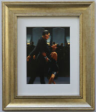 Rumba In Black by Jack Vettriano Framed & Mounted Art Print Gold