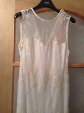 "BNWT "" Next "" Size 12 Tall Lace Floral Mesh Weddings Christening Races Dress New"