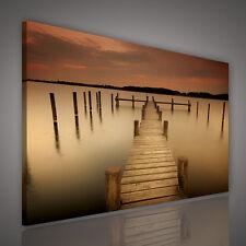 Tela parete immagine immagine poster mare tramonto mole arte 3fx1982o1