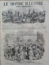 """LE MONDE ILLUSTRE 1859 N 91 AU THEATRE DE L'OPERA-COMIQUE: """" LES TROIS NICOLAS """""""