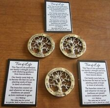 Ganz Tree of Life Family  Lot of 3 Pocket Tokens Charms Good Luck Piece Pendant