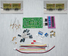 DIY KIT Analog VU meter stereo driver Audio Level with Peak LED BOARD ONLY (no m